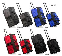 """20""""/28"""" Polyester Rolling Duffel Bag Wheeled Travel Suitcase"""