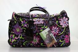 22 luggage rolling duffle purple punch ricardo