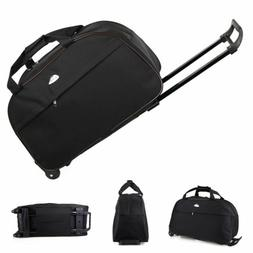 """24"""" Rolling Tote Duffle Bag Wheeled Carry On Luggage Waterpr"""