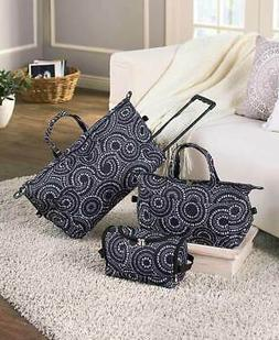 3 MEDALLION LUGGAGE ROLLING DUFFEL TOTE BAG TRAVEL COSMETIC