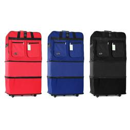 """30"""" 36"""" Rolling Wheeled Duffle Duffel Bag Spinner Suitcase L"""