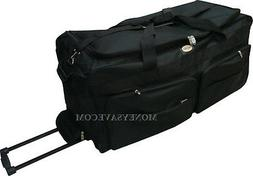 """30"""" Polyester Rolling Duffle Bag Wheeled Travel Luggage Suit"""