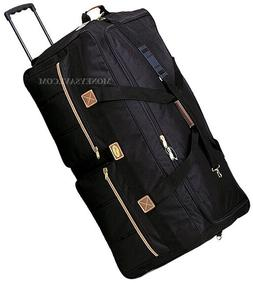 """36"""" Polyester Rolling Duffle Bag Wheeled Travel Luggage Suit"""