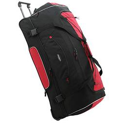 "Travelers Club 36"" ADVENTURE Travel Rolling Duffle Bag, Red"