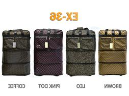 """36"""" Expandable Spinner Suitcase Luggage Wheeled Duffel Rolli"""