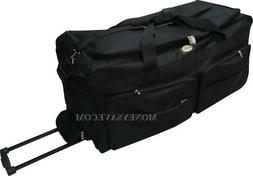 "36"" Polyester Rolling Duffle Bag Wheeled Travel Luggage Suit"
