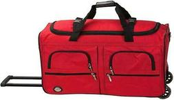 """ROCKLAND 36"""" ROLLING DUFFLE BAG RED"""