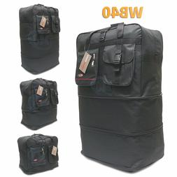 """40"""" Expandable Spinner Suitcase Luggage Wheeled Duffel Rolli"""