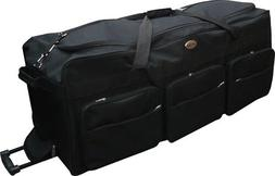 "42"" Polyester Rolling Duffle Bag Wheeled Travel Luggage Suit"