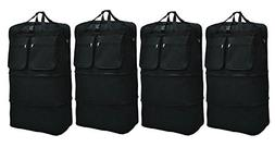 """New 4 pack of 40"""" black expandable rolling wheeled duffle ba"""