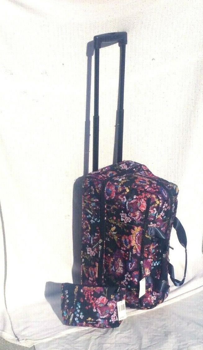 2 pc travel midnight wildflowers wheeled carry