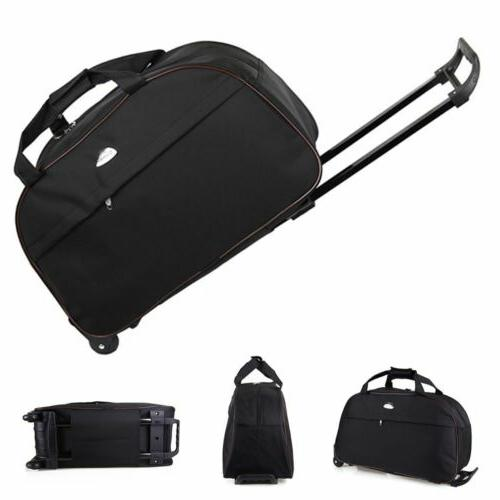 24 rolling tote duffle bag wheeled carry