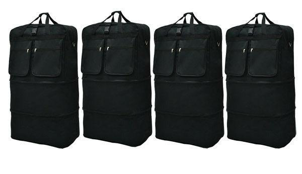4 pack 36 black ligheight rolling wheeled