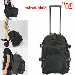 Men Rolling Wheeled Duffle Trolley Bag Tote Carry On Travel