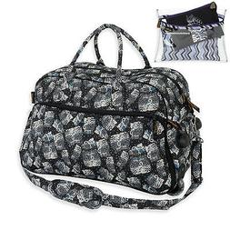 Laurel Burch Polka Dot Cat Quilted Rolling Wheeled Duffle RE