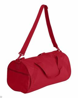 Red Nylon Roll Bag for Exercise Home Work Gym Travel Duffle