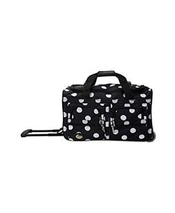 Rockland Luggage 22 in. Rolling Duffel Bag-Dots