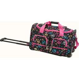 ROCKLAND PRD322-PEACE 22 Inch ROLLING DUFFLE BAG