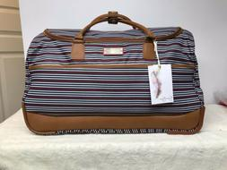 Jessica Simpson Rolling Duffel Bag Travel Suitcase Luggage R