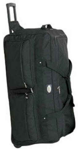Large 36 Inch Rolling Wheeled Duffel Bags Luggage Travel New