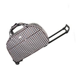 Rolling Wheeled Duffle Bag Collapsible Waterproof Travel Sui
