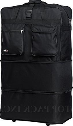 """36"""" Rolling Wheeled Duffle Bag Spinner Suitcase Luggage Expa"""
