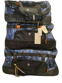 Timberland Webster Lake Blue Camo Travel Luggage Rolling Whe