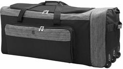 Wheeled Luggage Suitcase Travel Duffel Bag 36 In. Large Poly